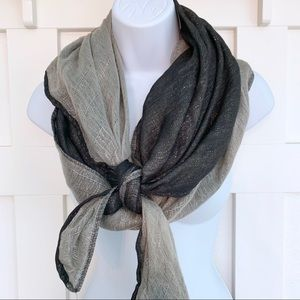 Vanity Gray And Black Sparkly Scarf